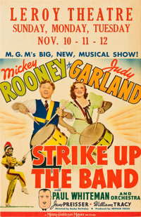 "Strike Up the Band (MGM, 1940). Window Card (14"" X 22"")"