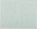 Autographs:Authors, Alice Morse Earle (1851-1911, American Writer and Historian). Autograph Letter Signed. Near fine....