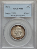 Proof Washington Quarters, 1936 25C PR66 PCGS....