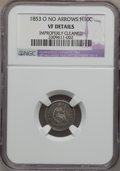Seated Half Dimes, 1853-O H10C No Arrows -- Improperly Cleaned -- NGC Details. VF....