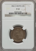 Seated Quarters, 1866-S 25C Fine 12 NGC....