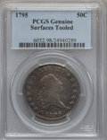 Early Half Dollars, 1795 50C 2 Leaves -- Surfaces Tooled -- Genuine PCGS. O-119,R.4....