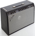 Musical Instruments:Amplifiers, PA, & Effects, 1966 Fender Deluxe Reverb Blackface Guitar Amplifier, Serial # A14997....