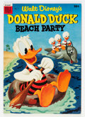 Golden Age (1938-1955):Funny Animal, Dell Giant Comics: Donald Duck Beach Party #1 (Dell, 1954)Condition: VF-....
