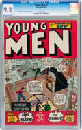 Golden Age (1938-1955):War, Young Men #5 (Atlas, 1950) CGC NM- 9.2 White pages....