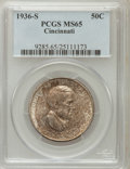 Commemorative Silver: , 1936-S 50C Cincinnati MS65 PCGS. PCGS Population (252/52). NGCCensus: (177/20). Mintage: 5,006. Numismedia Wsl. Price for ...