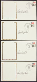 Baseball Collectibles:Others, Don Drysdale Signed Envelopes Lot of 4. ...