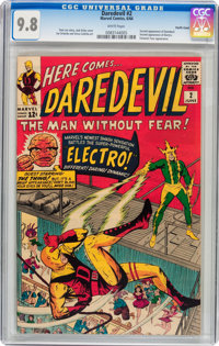 Daredevil #2 Pacific Coast pedigree (Marvel, 1964) CGC NM/MT 9.8 White pages