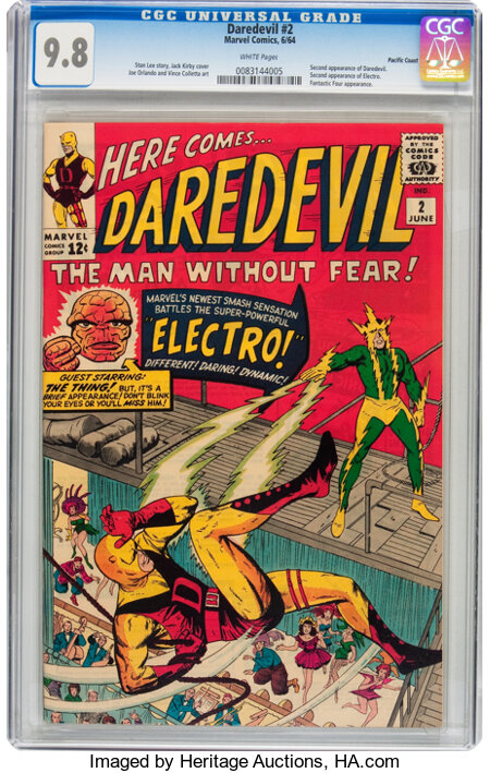 Daredevil #2 Pacific Coast pedigree (Marvel, 1964) CGC NM/MT 9.8 White pages....