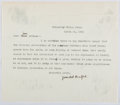 Autographs:Authors, Gamaliel Bradford (1863-1932, American Writer and Biographer). Typed Letter Signed. Mounting Residue. Very good....