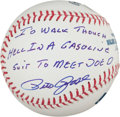 "Autographs:Baseballs, Pete Rose ""I'd Walk Through Hell In A Gasoline Suit To Meet Joe D.""Single Signed Baseball. ..."