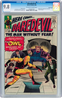 Daredevil #3 Pacific Coast pedigree (Marvel, 1964) CGC NM/MT 9.8 Off-white to white pages