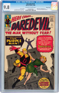 Silver Age (1956-1969):Superhero, Daredevil #4 Western Penn pedigree (Marvel, 1964) CGC NM/MT 9.8 Off-white to white pages....