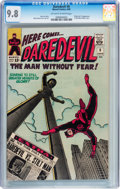 Silver Age (1956-1969):Superhero, Daredevil #8 (Marvel, 1965) CGC NM/MT 9.8 Off-white to white pages....