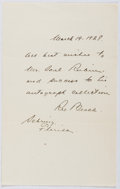 Autographs:Authors, Rex Beach (1877-1949, American Writer). Autograph Letter Signed.Near fine....