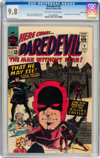 Daredevil #9 Pacific Coast pedigree (Marvel, 1965) CGC NM/MT 9.8 Off-white to white pages