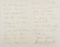 Autographs:Non-American, Margot Asquith, Countess of Oxford and Asquith (1864-1954, BritishWriter and Wife of Prime Minister). Autograph Letter Signed...