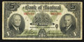 Canadian Currency: , Montreal, PQ - The Bank of Montreal $5 Dec. 7, 1942 Ch. #505-64-02. ...