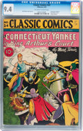 Golden Age (1938-1955):Classics Illustrated, Classic Comics #24 A Connecticut Yankee in King Arthur's Court(Gilberton, 1945) CGC NM 9.4 Off-white to white pages....