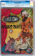 Golden Age (1938-1955):Classics Illustrated, Classic Comics #8 Arabian Nights (Gilberton, 1943) CGC VF 8.0 Cream to off-white pages....