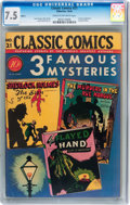 Golden Age (1938-1955):Classics Illustrated, Classic Comics #21 - 3 Famous Mysteries - Original Edition (Gilberton, 1944) CGC VF- 7.5 Cream to off-white pages....