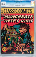 Golden Age (1938-1955):Classics Illustrated, Classic Comics #18 Hunchback of Notre Dame - Original Edition(Gilberton, 1944) CGC VF+ 8.5 Off-white pages....