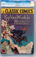 Golden Age (1938-1955):Classics Illustrated, Classic Comics #12 Rip Van Winkle and the Headless Horseman -Original Edition (Gilberton, 1943) CGC VF- 7.5 Off-white pages....