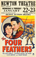 "Movie Posters:Adventure, The Four Feathers (Paramount, 1929). Window Card (14"" X 22"").. ..."