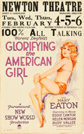 "Movie Posters:Musical, Glorifying the American Girl (Paramount, 1929). Window Card (14"" X22"").. ..."