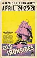 "Movie Posters:Adventure, Old Ironsides (Paramount, 1926). Window Card (14"" X 22"").. ..."