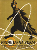 "Movie Posters:Science Fiction, Godzilla (Trans World, 1956). Czech Poster (11.5"" x 16"").. ..."
