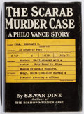 Books:Mystery & Detective Fiction, S. S. van Dine. The Scarab Murder Case. Scribners, 1930.First edition, first printing. Leaning. Shaken. Very good....