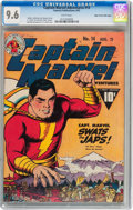 Golden Age (1938-1955):Superhero, Captain Marvel Adventures #14 Mile High pedigree (Fawcett Publications, 1942) CGC NM+ 9.6 White pages....