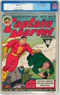 Golden Age (1938-1955):Superhero, Captain Marvel Adventures #22 Mile High pedigree (Fawcett Publications, 1943) CGC NM+ 9.6 Off-white to white pages....