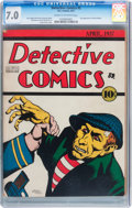Platinum Age (1897-1937):Miscellaneous, Detective Comics #2 (DC, 1937) CGC FN/VF 7.0 Cream to off-white pages....