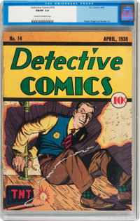 Detective Comics #14 (DC, 1938) CGC FN/VF 7.0 Cream to off-white pages