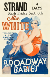 "Broadway Babies (First National, 1929). Window Card (14"" X 22"")"