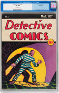Platinum Age (1897-1937):Miscellaneous, Detective Comics #3 Lost Valley pedigree (DC, 1937) CGC FN- 5.5Off-white pages....