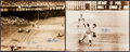 Autographs:Photos, Don Larsen's Perfect Game And The Shot Heard Round The World SignedOversized Photograph....