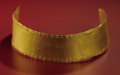 Paintings, Armband or Cuff. Costa Rica or Panama. A.D. 700 - 1500. Gold, Weight 54.3 grams. Length 13 in. Width 1 ¾ in.. This medium... (Total: 1 Item Item)