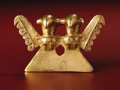 Paintings, Double-bird Pendant. Azuero Peninsula. A.D. 200/300 - 700. Gold, Weight 79.91 grams. Height 2 ¼ in. Width 3 ½ in.. The el... (Total: 1 Item Item)