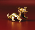 Paintings, Pendant: Jaguar with a Human Leg in its Mouth. Veraguas, Chiriquí, Diquís. A.D. 900 - 1520. Gold, Weight 54.51 grams. Length... (Total: 1 Item Item)