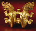 Massive Pendant of Joined, Crested Supernaturals Coclé/Parita, Macaracas Phase A.D. 800 - 1100 Gold, Weight 462.0...