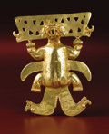 Paintings, Pendant: Mythical Animal. Veraguas or Diquís. A.D. 900 - 1500. Gold, Weight 168.96 grams. Height 4 5/16 in. Width 3 ½ in.. ... (Total: 1 Item Item)
