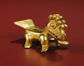 Paintings, Pendant: Fantastic Animal. Veraguas, Chiriquí. A.D. 900 - 1520. Gold, Weight 106.91 grams. Length 3 5/16 in. Height 1 ¾ in.... (Total: 1 Item Item)