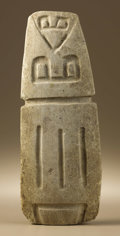 Pre-Columbian:Stone, Anthropomorphic Image. Chorrera (?). ca. 1000 - 300 B.C.. Stone.Height 14 7/8 in. Width 5 7/8 in.. This enigmatic, highl...