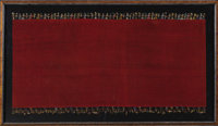 Mantle with Knitted Hummingbird Borders Nasca (Early) 300-100 B.C. Camelid fibers Length 55 in. Width 25 in.  The comp...