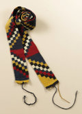 Pre-Columbian:Textiles, Belt. Nasca. A.D. 100 - 500. Camelid fibers, cotton. Length 53 3/4in. Width 1 3/4 in.. The design of this almost perfect...