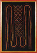 Pre-Columbian:Textiles, Sash with Braided Streamers. Nasca. 100 B.C. - A.D. 250. Cotton,camelid fibers. Height (band) 7 1/8 in. Length 27 1/4 in.. ...
