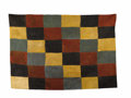 Pre-Columbian:Textiles, Rectangular Checkerboard Panel. Nasca. 100 B.C. - A.D. 300. Camelidfibers. Length 62 in. Width 42 1/2 in.. Large textile...